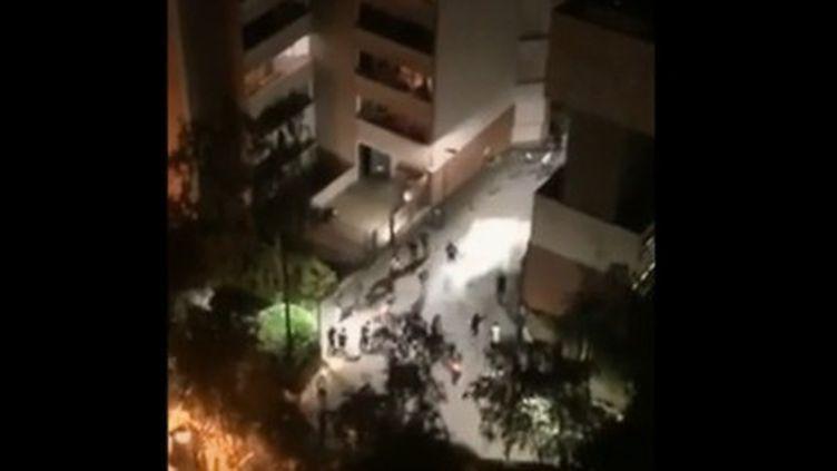 Des affrontements ont éclaté dans la nuit du dimanche 30 juin entre bandes rivales à Saint-Germain-en-Laye. (France 2)
