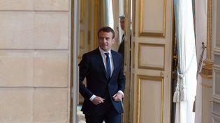 Emmanuel Macron, le 12 juin 2017 à l'Elysée (JACQUES WITT / SIPA)