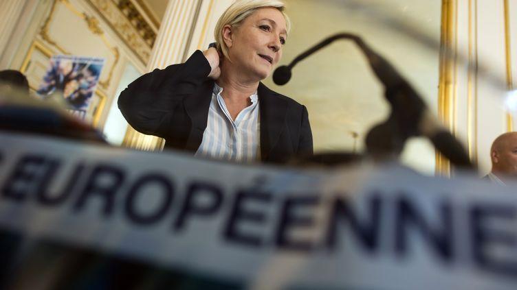 La présidente du FN, Marine Le Pen, le 22 avril 2014 à Paris. (LIONEL BONAVENTURE / AFP)