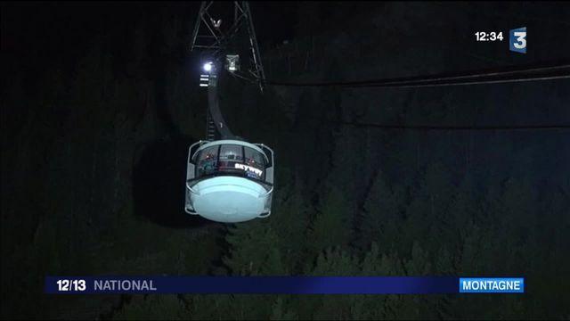 Mont-Blanc : 33 touristes ont passé la nuit dans une télécabine