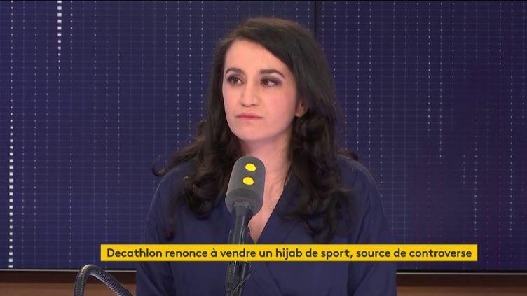 Lydia Guirous, porte-parole des Républicains, le 26 février 2019. (RADIO FRANCE / FRANCEINFO)