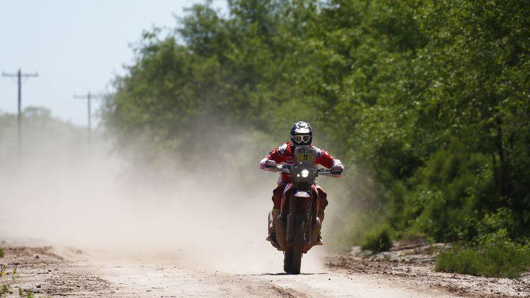 Première victoire sur le Dakar pour le pilote Honda (FREDERIC LE FLOC H / DPPI MEDIA)
