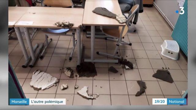 Marseille : après les immeubles effondrés, les écoles délabrées