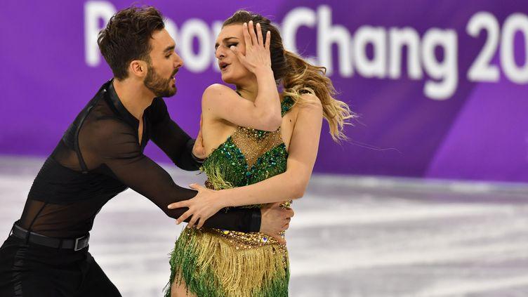 Gabriella Papadakis et Guillaume Cizeron en quête d'or  (PETER KNEFFEL / DPA)