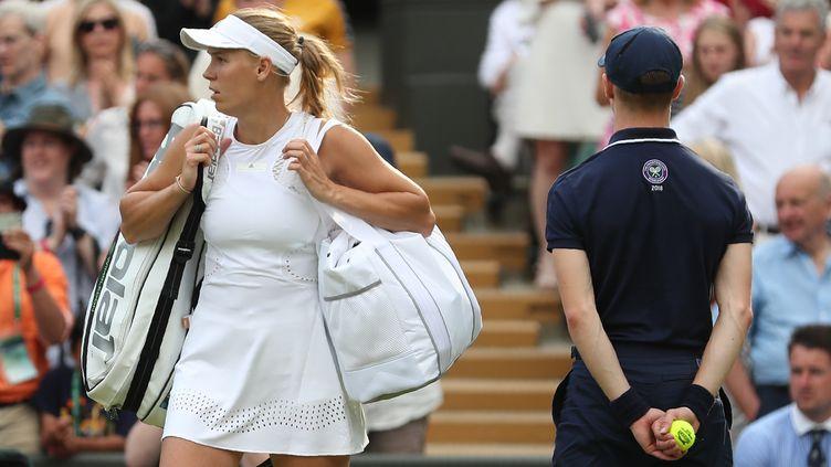 Caroline Wozniacki (DANIEL LEAL-OLIVAS / AFP)