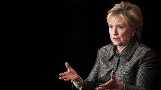 Hillary Clinton, le 6 avril 2017 à New-York (Etats-Unis). (ANGELA WEISS / AFP)
