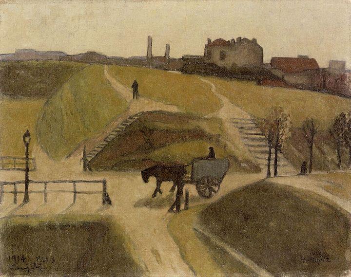 "Foujita, ""Les Portes de Paris"", 1914, Pola Museum of Art  (Fondation Foujita / Adagp, Paris, 2018)"