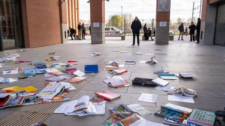 Une grève des professeurs contre la réforme du baccalauréat, le 15 janvier 2020 à Toulouse. (ADRIEN NOWAK / AFP)