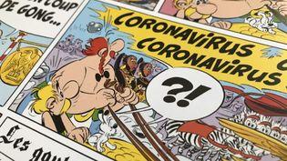 """Les deux héros gaulois sont confrontés à Coronavirus dans l'album """"Astérix et la Transitalique"""". (Editions Albert René)"""