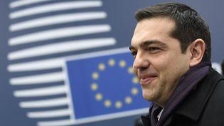 Le Premier ministre grec, Alexis Tsipras, avant un conseil européen à Bruxelles (Belgique), le 19 mars 2015. (JOHN THYS / AFP)