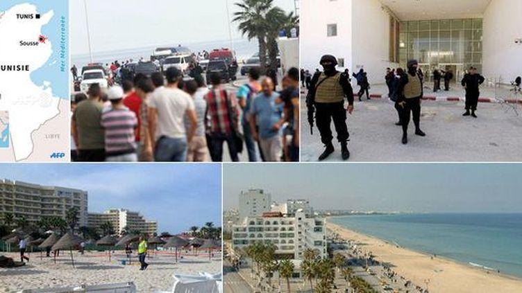 Sur les lieux de l'attentat de Sousse. (DR/Capture d'écran)