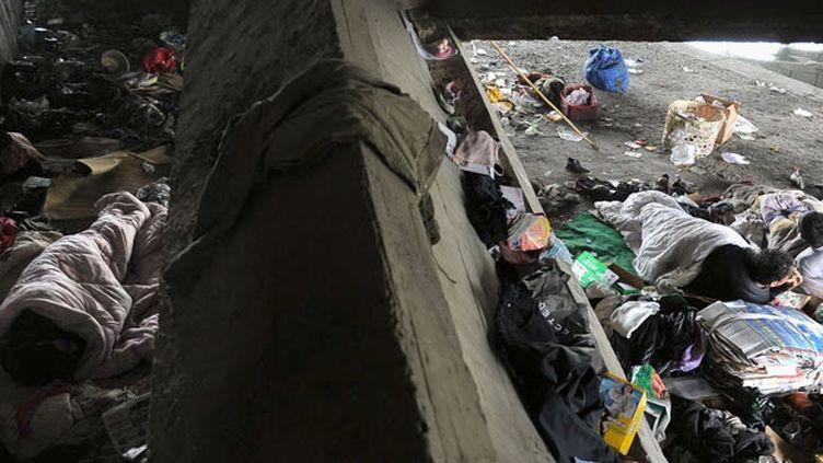 Les sans-abri de Hefei (CHINE OUT AFP PHOTO)