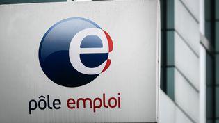 Illustration du logo de Pôle emploi. (PHILIPPE LOPEZ / AFP)
