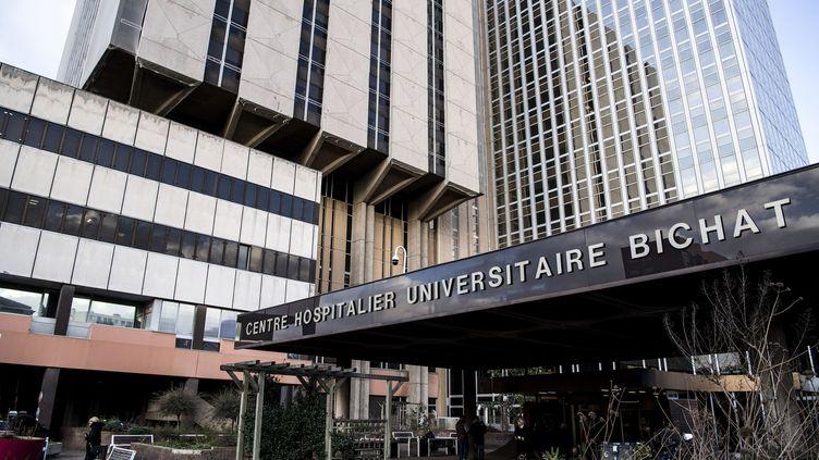 L'entrée de l'hôpital Bichat, à Paris, le 29 janvier 2020. (CHRISTOPHE ARCHAMBAULT / AFP)