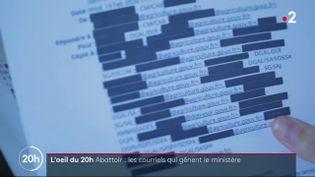 Abattoir de Sobeval: la fuite de courriels qui gêne le ministère (FRANCE 2)