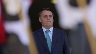 Le président brésilien Jair Bolsonaro, à Brasilia, le 30 juillet 2021. (ERALDO PERES / AP / SIPA)