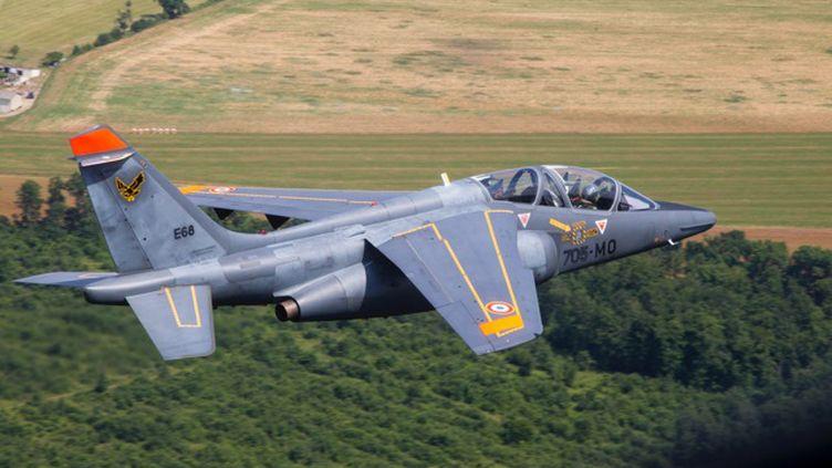 Photo non datée d'Un Alpha Jet dans le ciel français. (SIRPA AIR /A FP)