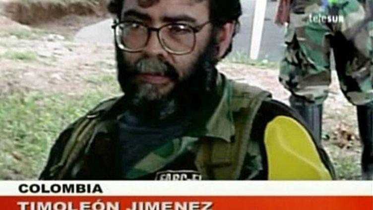 Le chef des FARC, Alfonso Cano, dans une vidéo diffusée le 25 mai 2008 par la télévision vénézuélienne Telesur (AFP - TELESUR)