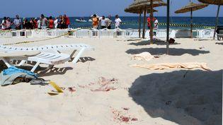 La plage de l'hôtel Riu Imperial Marhaba à Sousse (Tunisie) après la tuerie du 26 juin 2015. (BECHIR-TAIEB / DPA / AFP)