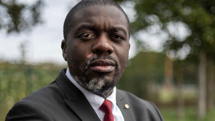 Jean-Jacques Lumumba, lanceur d'alerte congolais réfugié en France. (THOMAS SAMSON / AFP)
