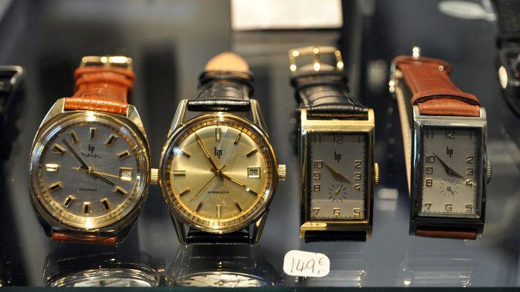 (Modèles historiques de montres Lip © Maxppp)