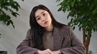 """Ryu Sera revient sur sesannées de sacrifices et de souffrance dans l'émission sud-coréenne""""Miss Back"""" (JUNG YEON-JE / AFP)"""