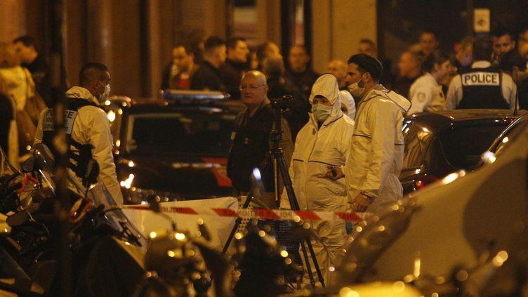 L'attaque au couteau, perpétrée le 12 mai 2018 dans le quartier de l'Opéra à Paris, avait fait un mort et quatre blessés. (GEOFFROY VAN DER HASSELT / AFP)