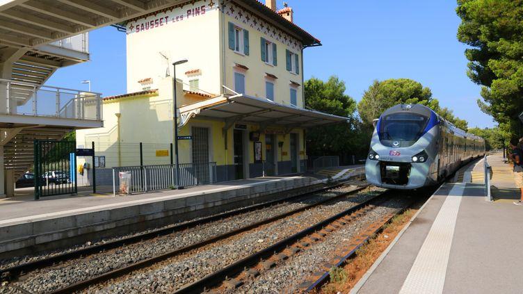 La gare de Sausset-les-Pins (Bouche-du-Rhône) le 10 septembre 2016. (MAXPPP)