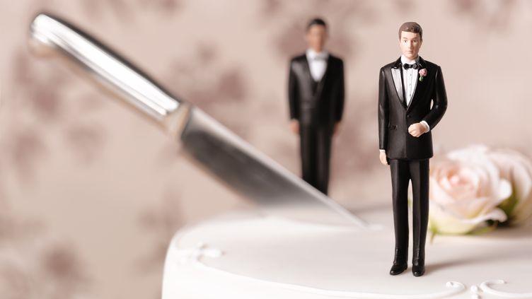 Six Français sur dix seraient en faveur du mariage des homosexuels, aujourd'hui impossible dans l'Hexagone. (PETER DAZELEY/GETTY IMAGES)