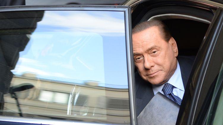 Silvio Berlusconi, le 30 septembre 2013 à Rome (Italie). (ANDREAS SOLARO / AFP)