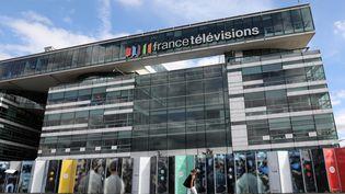 Le siège de France Télévisions, à Paris. (LUDOVIC MARIN / AFP)
