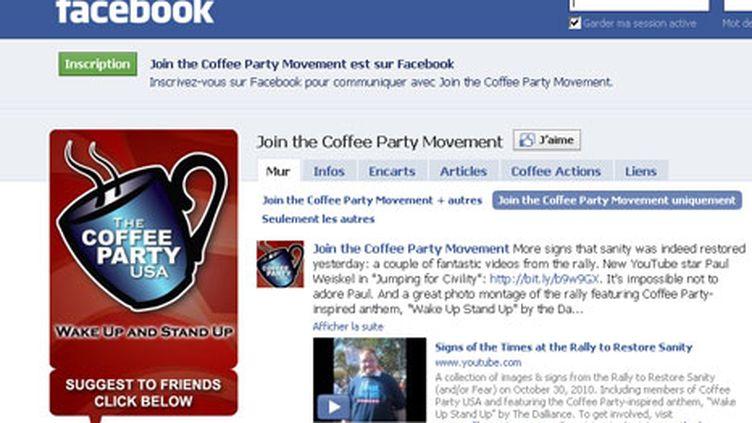 Capture d'écran de la page Facebook du Coffee Party (DR)