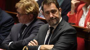 Le ministre de l'Intérieur, Christophe Castaner, lors d'une séance de questions au gouvernement, mercredi 17 octobre à l'Assemblée nationale. (ERIC FEFERBERG / AFP)