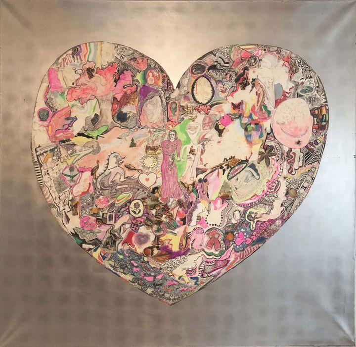"Niki de Saint Phalle, ""My heart"", 1965 - Collection privée,Courtesy Niki Charitable Art Foundation and Galerie GP & N.Vallois, Paris (© D.R. © Adagp, Paris, 2020)"