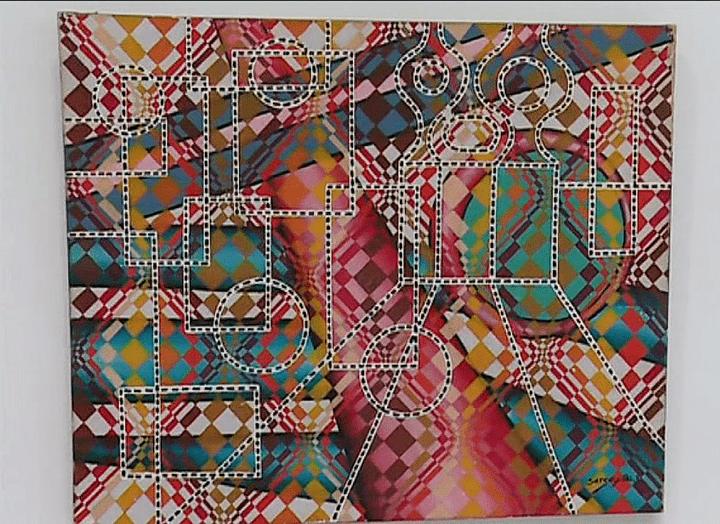Tableau de SergeX.  (France 3 Culturebox (capture d'écran))