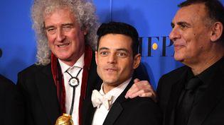 """L'acteur Rami Malek a été récompensé pour son interprétation de Freddie Mercury dans """"Bohemian Rhapsody"""", aux Golden Globes qui se sont tenus à Hollywood le 6 janvier 2019. (MARK RALSTON / AFP)"""