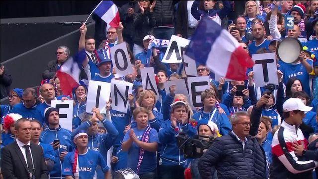 VIDEO. Coupe Davis : explosion de joie et Marseillaise quand Tsonga qualfie la France en finale