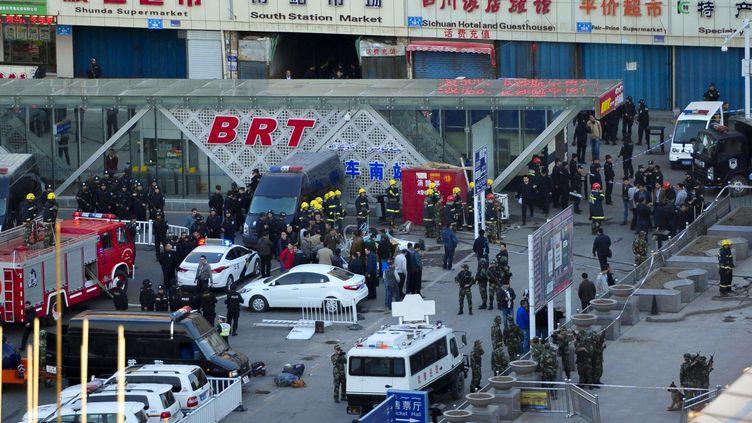 L'attentat a eu lieu à la sortie de la gare d'Urumqi (Chine), le 30 avril 2014. ( AP / SIPA )