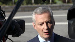 Le ministre de l'Economie Bruno Le Maire à Sofia (Bulgarie), le 27 janvier 2018. (PLAMEN STOIMENOV / AFP)