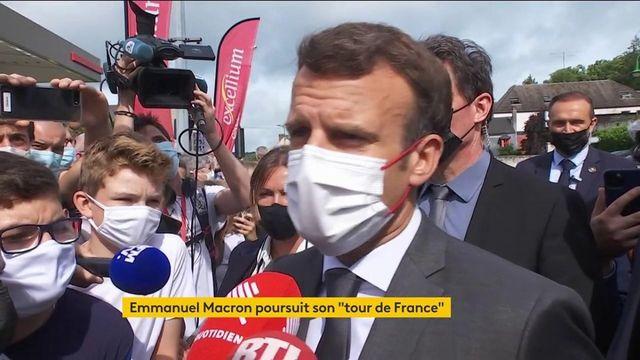 """Politique : Emmanuel Macron continue son """"tour de France"""""""
