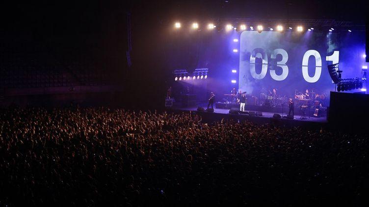 Un concert-test auPalau Sant Jordi, le 27 mars 2021 à Barcelone (Espagne). (ADRIA PUIG / AFP)