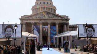 Le Panthéon se prépare à recevoir les cercueils de Simone et Antoine Veil.  (LUDOVIC MARIN / POOL / AFP)