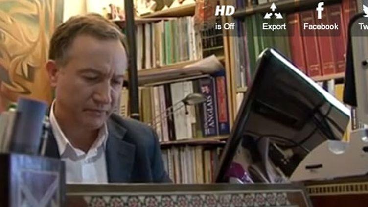 Haytman Manna, un opposant syrien réfugié en France. (FTV)