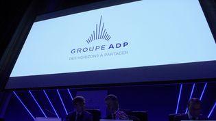 Assemblée générale des Aéroports de Paris, à Paris, le 20 mai 2019. (ERIC PIERMONT / AFP)