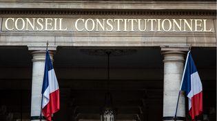 L'entrée principale du Conseil constitutionnel, à Paris. (HUGO PASSARELLO LUNA / HANS LUCAS / AFP)