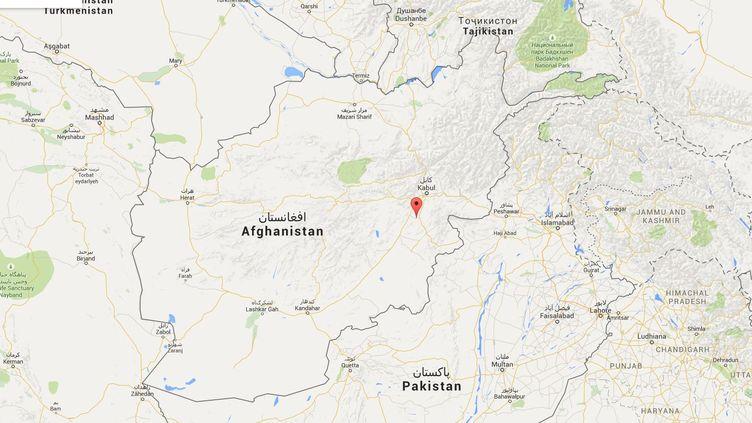 La frappe s'est produite dans la province de Logar, au sud de la capitale afghane, Kaboul. (GOOGLE MAPS)