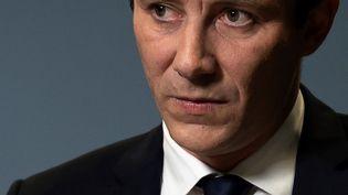 Benjamin Griveaux lors de l'annonce de son retrait de la campagne municipale parisienne, le 14 février 2020 (LIONEL BONAVENTURE / AFP)