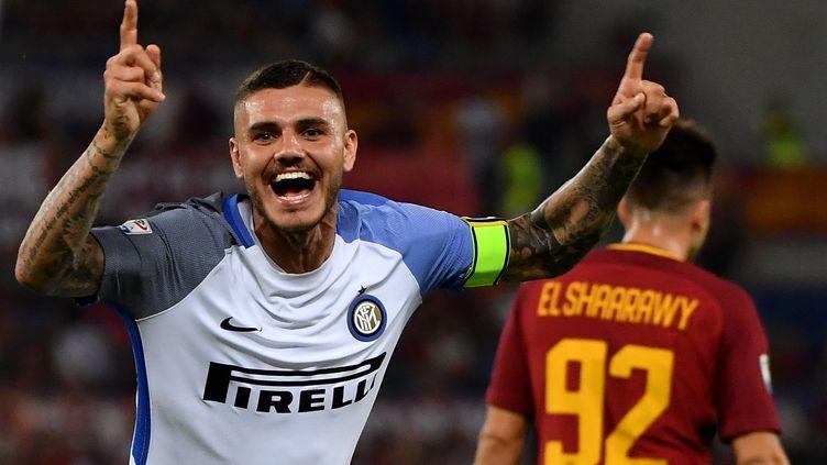 Mauro Icardi a porté l'Inter face à la Roma (ALBERTO PIZZOLI / AFP)