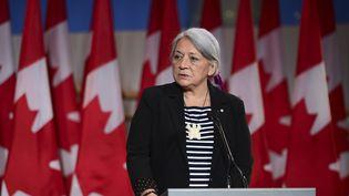 Mary Simon, la nouvelle gouverneure du Canada, le 6 juillet 2021 à Gatineau, au Québec (Canada). (SEAN KILPATRICK / THE CANADIAN PRESS / AP)