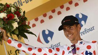 Le coureur français Warren Barguil, le 21 juillet 2017, à Salon-de-Provence (Bouches-du-Rhône). (PHILIPPE LOPEZ / AFP)